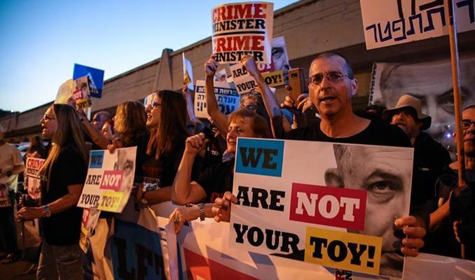 Tel Aviv'de Eurovision protestosu