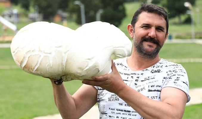 7 kilo 125 gramlık dev mantar bulundu