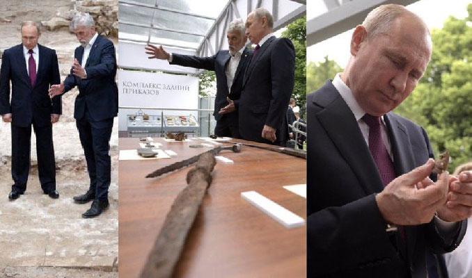 Kremlin'deki kazıda bir Fransız'a ait kılıç
