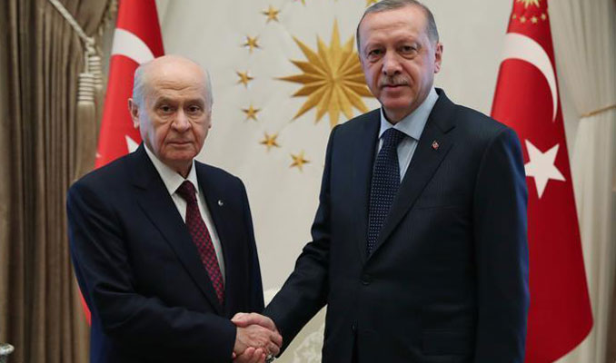 Cumhurbaşkanı Erdoğan, Bahçeli görüşmesi sona erdi