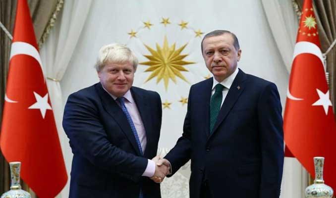 Cumhurbaşkanı Erdoğan'dan, Boris Johnson'a tebrik