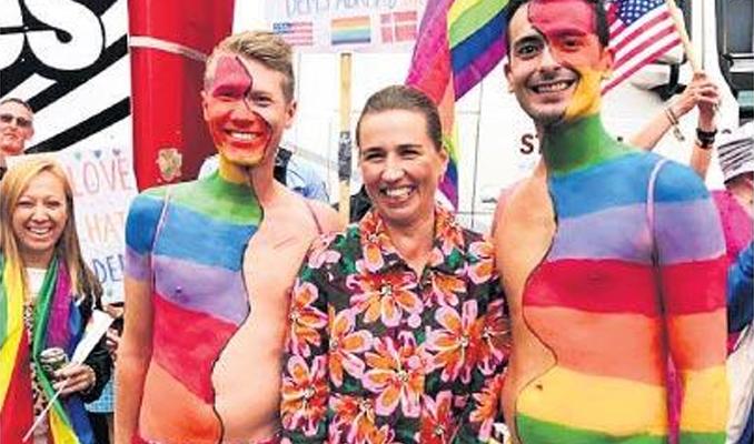 Danimarka Başbakanı 'Pride' kutlamasında