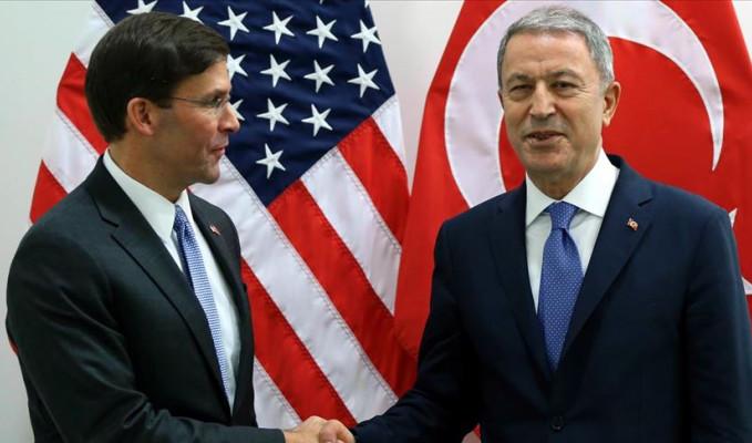 Akar ile ABD'li mevkidaşı Esper arasında önemli görüşme