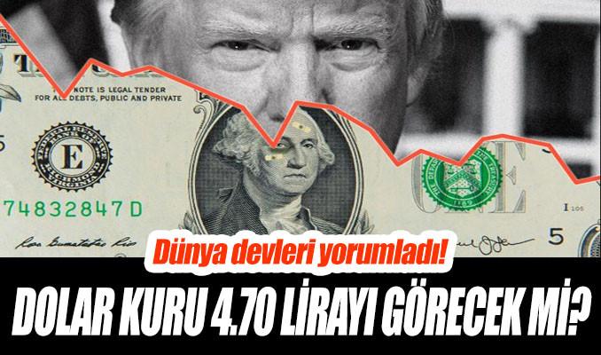 Dolar 4.70 lirayı görecek mi?