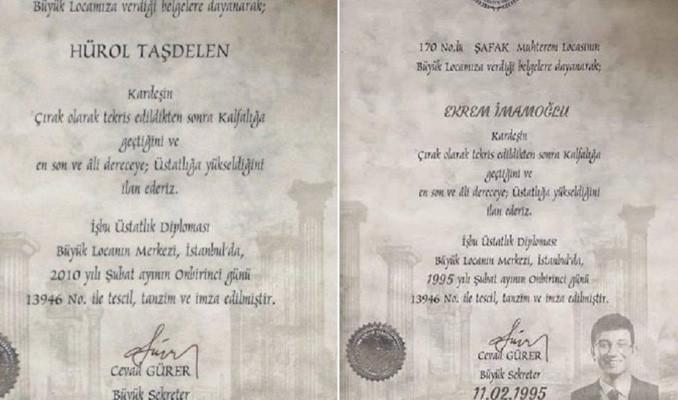 Hürol Taşdelen: İmamoğlu için hazırlanan mason diplomasının aslı bana ait