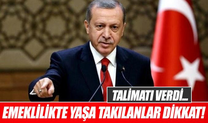 Erdoğan emeklilikte yaşa takılanlarla ilgili formül bulunmasını istedi
