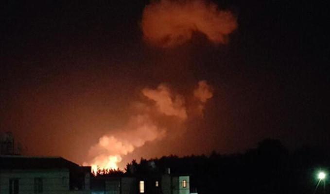 KKTC'de askeri mühimmat deposunda şiddetli patlamalar