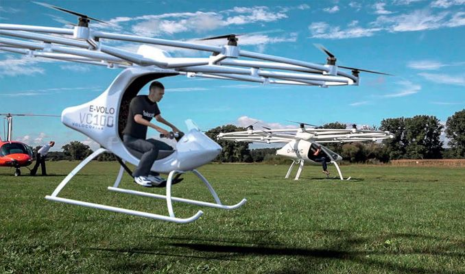 Uçan taksi Volocopter 3 yıl sonra trafikte olacak