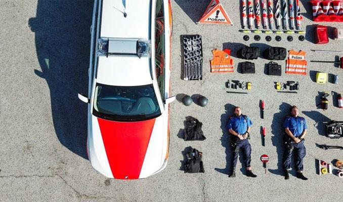 İsviçre polisinin başlattığı akıma diğer ülkelerden polisler de katıldı: Tetris challenge