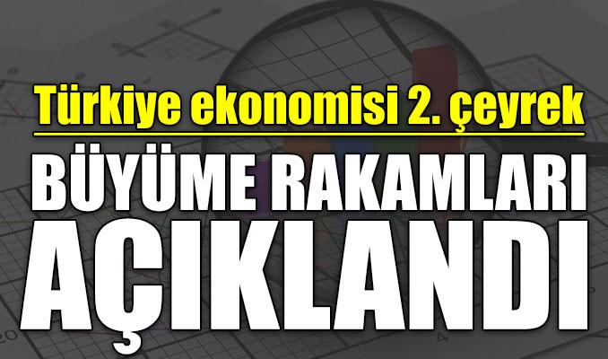 Türkiye ekonomisi 2. çeyrek büyüme rakamları açıklandı