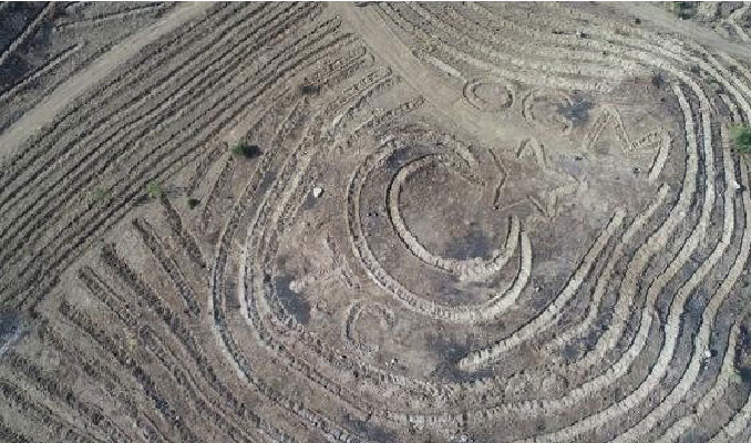 Sivas'ta yanan ormanlık alana ay-yıldızlı proje