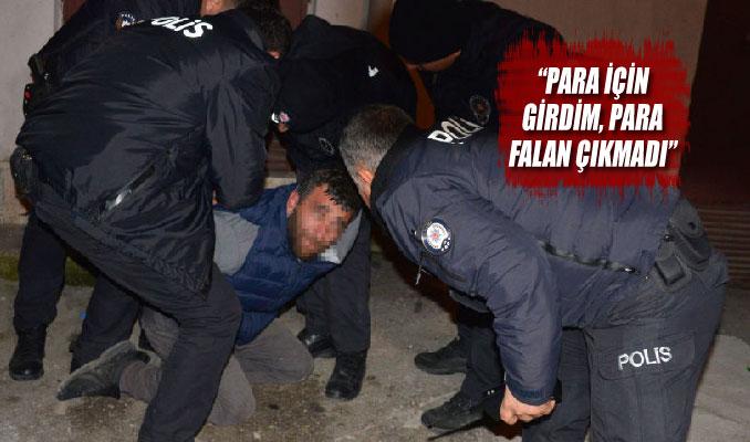 Bankaya giren hırsız çatıdan atlayıp polise teslim oldu