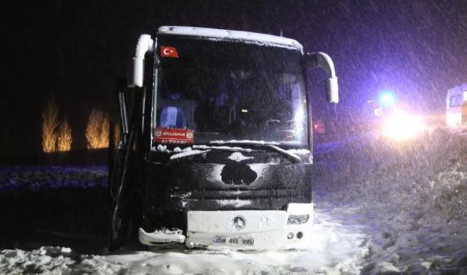 Sivasporlu alt yapı oyuncularını taşıyan otobüs yoldan çıktı: 7 yaralı