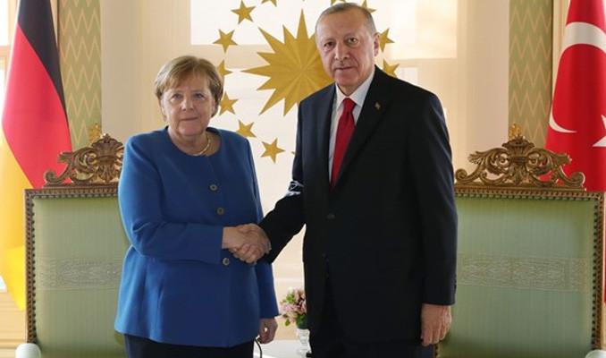 Erdoğan ve Merkel görüştü