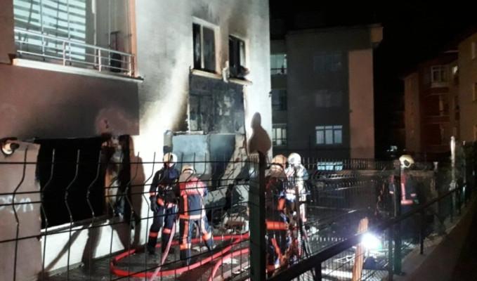 Ankara Mamak'ta doğalgaz patlaması