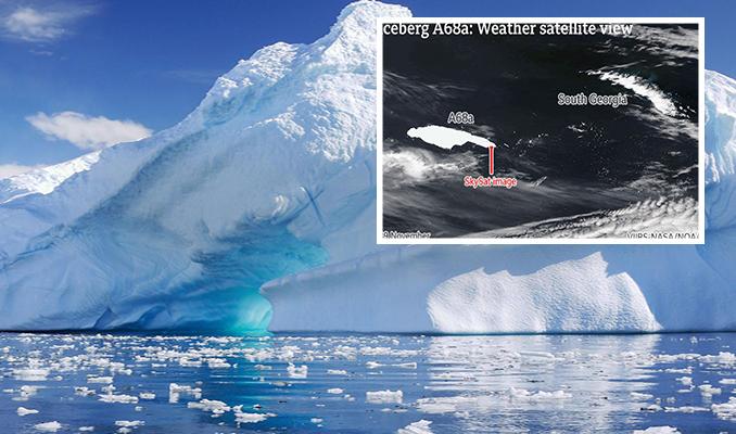 150 kilometre uzunluğundaki buz dağı başıboş şekilde yol alıyor