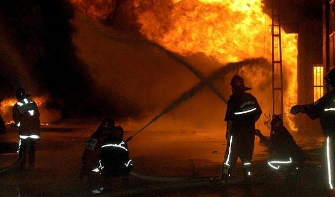 Gaziantep'te kimya fabrikasında yangın