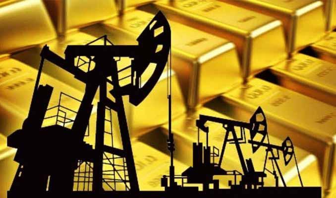 Altın 1,600 dolarda, petrol geriledi