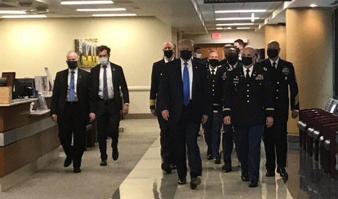 Trump ilk kez maske ile görüldü