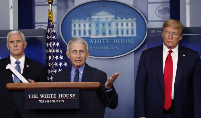 Trump Dr. Fauci ve CDC'yi bay pas ediyor