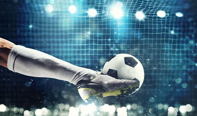 Banka mobil uygulamasında futbol maçı