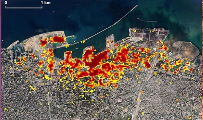 Beyrut'u yıkan patlama böyle görüntülendi