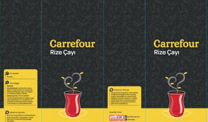 Carrefour markalı çaylarda boya çıktı