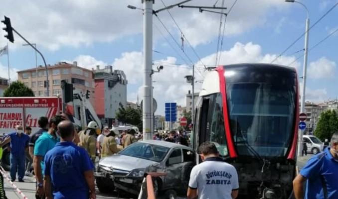 İstanbul'da gerçekleşen tramvay kazasında 1 kişi yaralandı