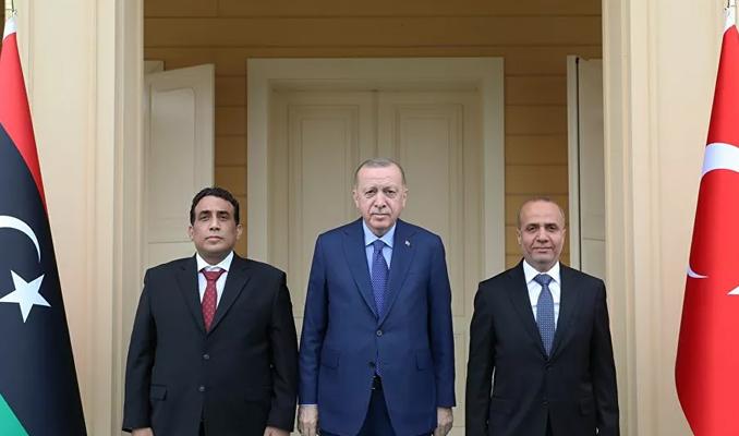 Erdoğan, Libya Heyeti'yle bir araya geldi