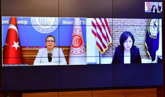ABD Ticaret Temsilcisi'yle görüşen Bakan Pekcan: Güçlü bir irade ortaya koyduk