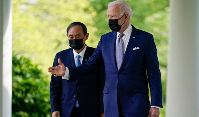 Biden ilk yüz yüze görüşmeyi Japon Başbakan ile yaptı