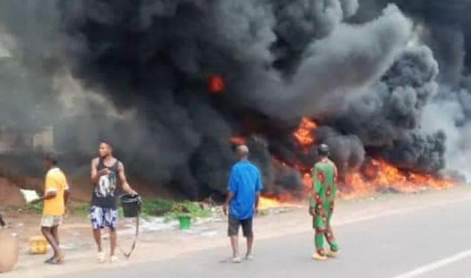 Nijerya'da petrol tankeri faciası: Çok sayıda ölü var