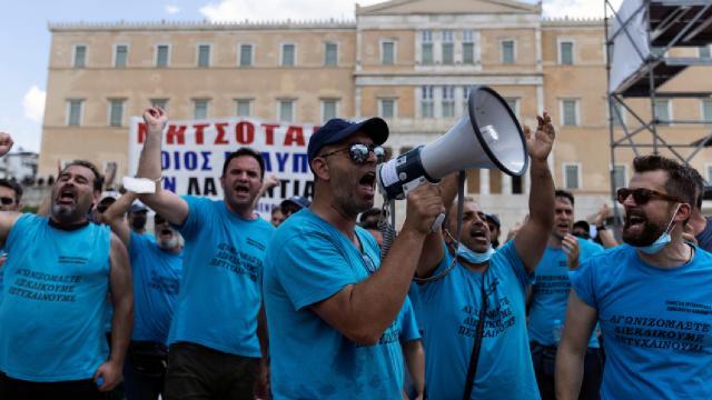 Yunanistan'da genel grev: Binlerce çalışan, iş bıraktı