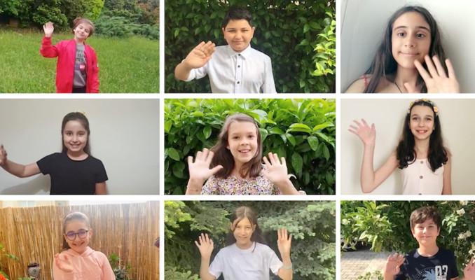 Minik Yapı Kredililer dünya çevre günü için şarkı söyledi