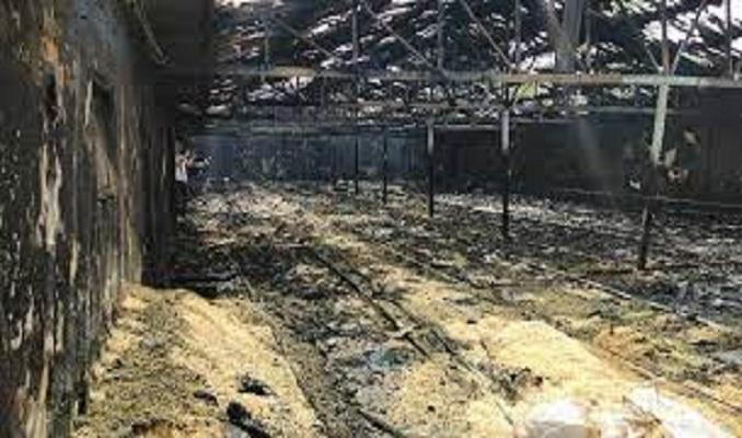 Çiftlikte çıkan yangında 12 bin hindi yavrusu telef oldu