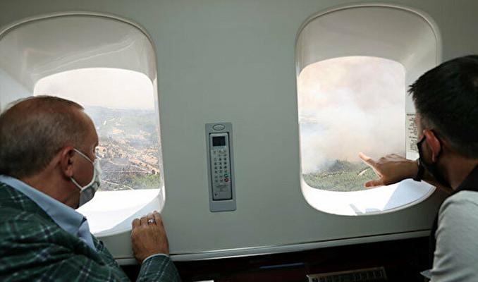 Erdoğan yangın bölgesinde