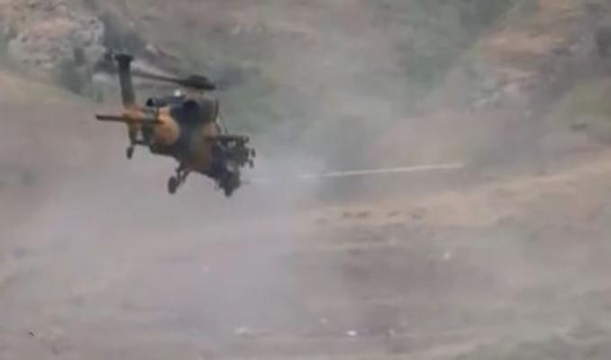 2 PKK'lı terörist Atak helikopterleriyle etkisiz hale getirildi