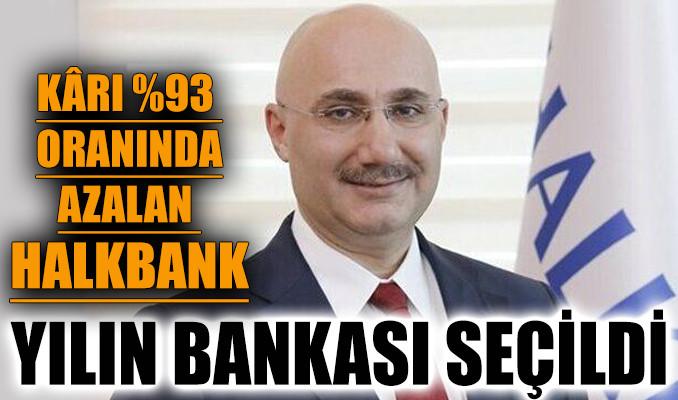 Kârı yüzde 93 oranında azalan Halkbank yılın bankası seçildi