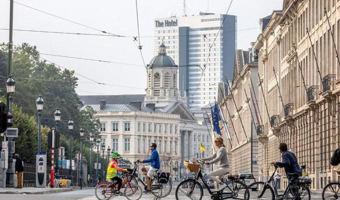 Brüksel'de 'Arabasız Gün' etkinliği