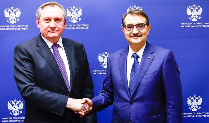 Bakan Dönmez, Rusya Enerji Bakanı ile bir araya geldi