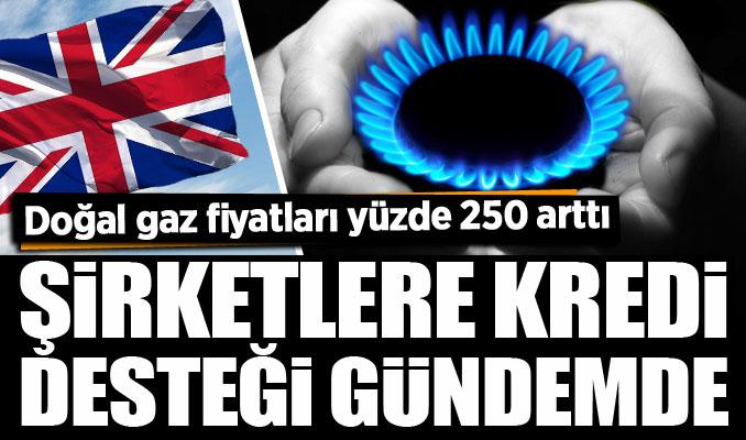 İngiltere'de doğal gaz fiyatları yüzde 250 arttı: Şirketlere kredi desteği gündemde