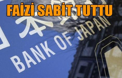 Japonya faizi değiştirmedi