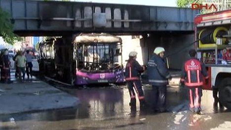 İETT otobüsünde patlama!