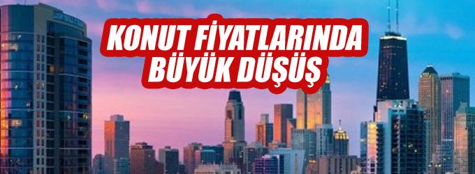 Konut fiyatları İstanbul'da %15.69 düştü