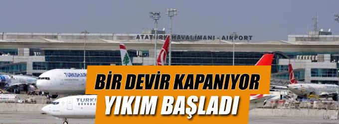Atatürk Havalimanı'nda millet bahçesi hazırlıkları başladı