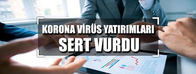 Korona virüs yatırımları sert vurdu