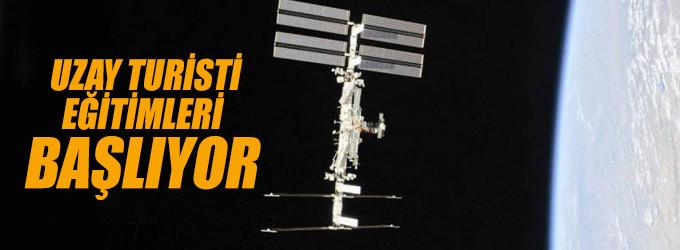 Uzay turisti eğitimleri başlıyor